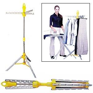 Telescopic adjustable multi hanger clothes storage rack amazon co uk kitchen amp home