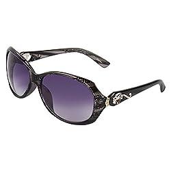 Zyaden Black Oval Sunglasses Women 86