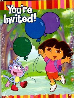 Dora Invitations and Thank You Cards