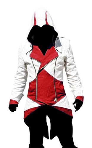 Dazcos Assassins Creed Connor Kenway Cosplay Costume Hoodie/Jacket/Coat (Men M)