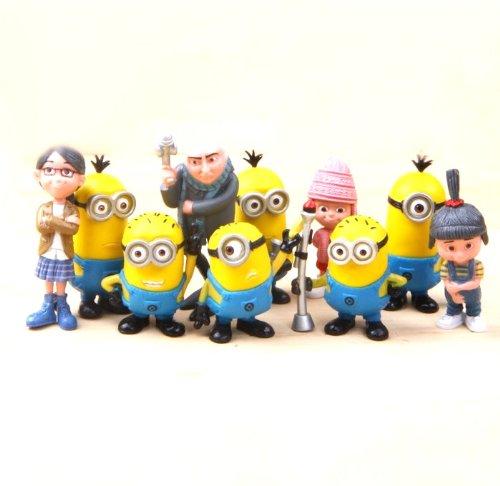 Despicable Me 2 The Minions Role Figure Display Toy PVC 10Pcs Set