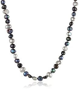 Endless Black Multi-Colored Baroque Freshwater Cultured Pearl Necklace, 50""