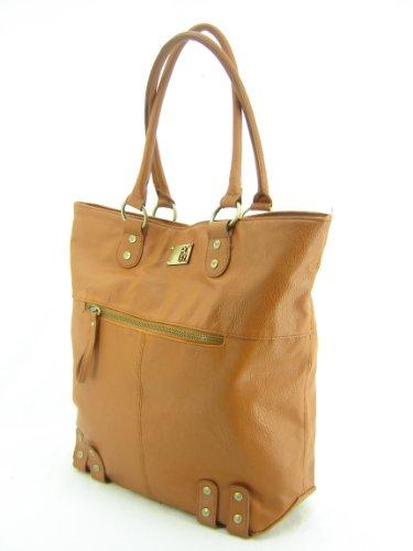 Roxy Sky Light Large Shopper Tote Handbag Brown