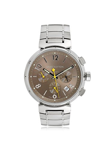 Louis Vuitton Men's Pre-Owned Tambour Champagne/Stainless Steel Watch