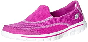Skechers Women's Go Walk 2-Spark Walking Shoe,Raspberry,6 M US