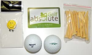 48 Precept Mens Recycled Golf Balls With Free Tee