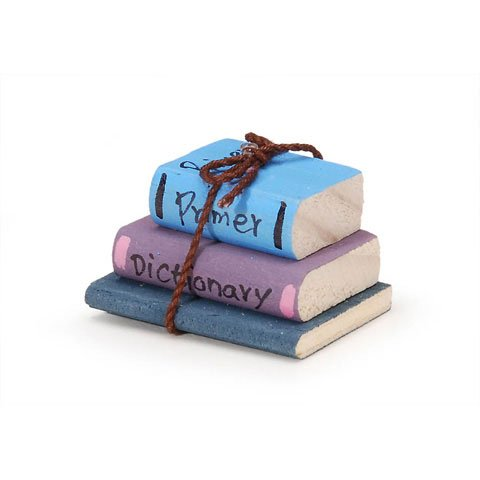 Timeless Mini Wooden School Books tied with Cord. Turquoise Book on Top with Primer written on it. (Primer Cord compare prices)