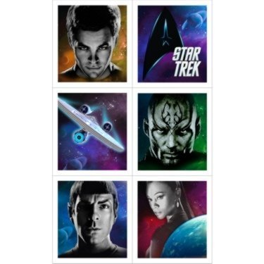 Star Trek Party Stickers (4 sticker sheets/24 stickers)
