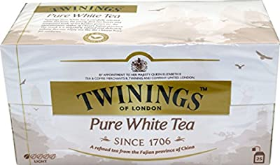 Twinings of London White Tee 3 x 25 Teebeutel von R.Twinings & Company Limited London England auf Gewürze Shop