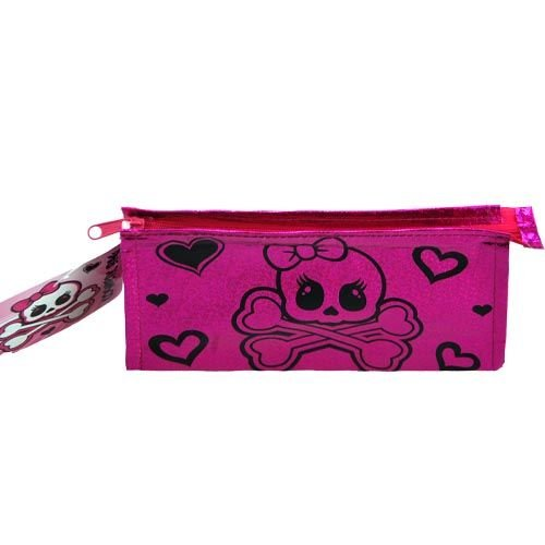 WeGlow International Girly Skull Design Foil Cosmetic Bag (3 Bags) - 1