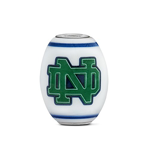 Notre Dame Fighting Irish Large Glass Bead Fits Most European Style Charm Bracelets