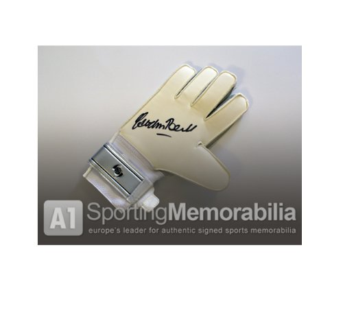 Gordon Banks signed goalkeeper glove