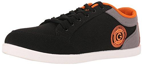 Globalite-Mens-Casual-Shoes-Stumble-Black-Grey-Orange-GSC0338