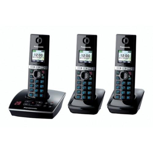 Panasonic KX-TG8063EB Triple Colour DECT Phone Set with Answer Machine