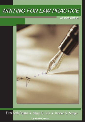 Writing for Law Practice: Advanced Legal Writing...