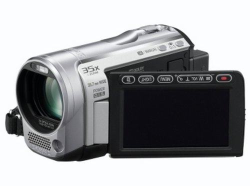 Panasonic SD60 Full HD Camcorder With SD Card Recording, X35 Intelligent Zoom, X25 Optical Zoom, Wide Angle Lens, iA + Face Recognition - Silver