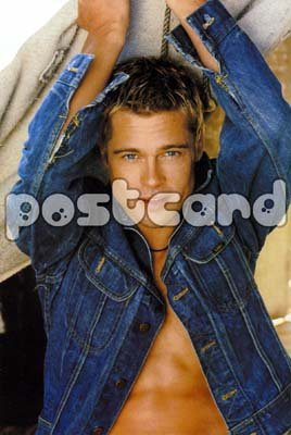Brad Pitt~ Brad Pitt Postcard~ Rare Authentic