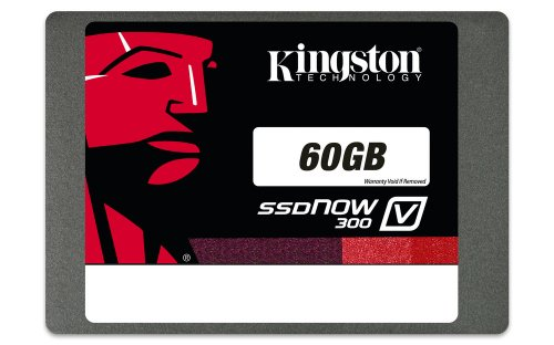 Kingston Digital 60GB SSDNow V300 SATA 3 2.5 (7mm height) with Adapter Solid State Drive SV300S37A/60G