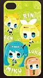 初音ミク 鏡音リン 鏡音レン 巡音ルカ iPhone4 iPhone4S ケース カバー illustration by げげげのげんがー スマートフォンケース スマートフォンカバー ヴォーカロイド ボーカロイド セガ プライズ