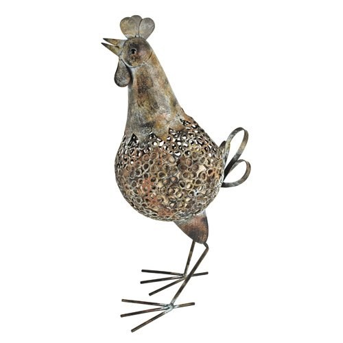 Rustic Farmhouse Distressed Metal Rooster Cork Holder by Twine