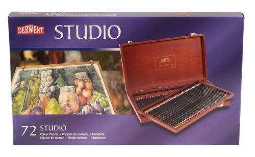 Derwent Studio Colour Pencils Wooden Box (72)