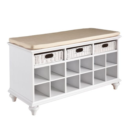 Southern Enterprises Chelmsford Vestibule/ Hall Bench With Storage, White