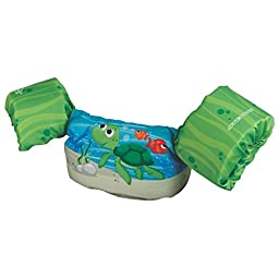 Stearns Puddle Jumper Deluxe Life Jacket, Green Turtle, 30-50 lbs