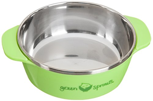 green sprouts Stainless Steel Bowl, Green, 6 Month Plus - 1