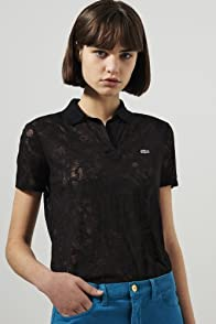 L!ve Short Sleeve Burnout Polo