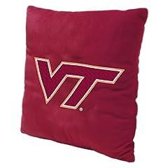NCAA Virginia Tech Hokies 16-Inch Polyester Felt Plush Pillow by Northwest