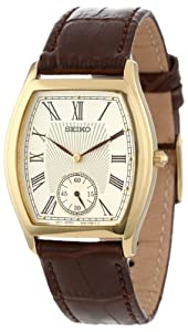 Seiko Men's SRK008 Stainless Steel Watch with Leather Band