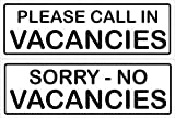 Smarts-Art Vacancies No Vacancies Double Sided Sign 300Mm X 100Mm