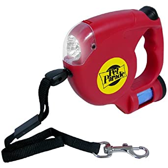 14 FT DOG LEASH W/ LED FLASHLIGHT & BAGS