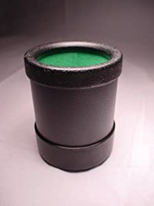 Dice Cup (Plastic) Cloth Lined