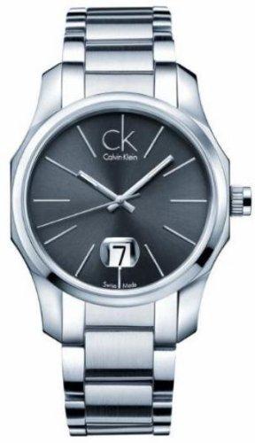 Calvin Klein Silver Bracelet Quartz Black Dial Men's Watch - K7741161