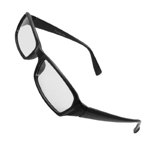 Herren-Damen-Full-Rahmen-Schwarz-Arme-Klar-Linsen-Plano-Brille-Firm