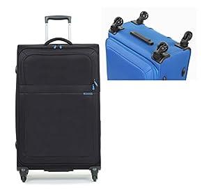 Wheeled Travel Luggage Suitcase Soft Case Black R0011 Black