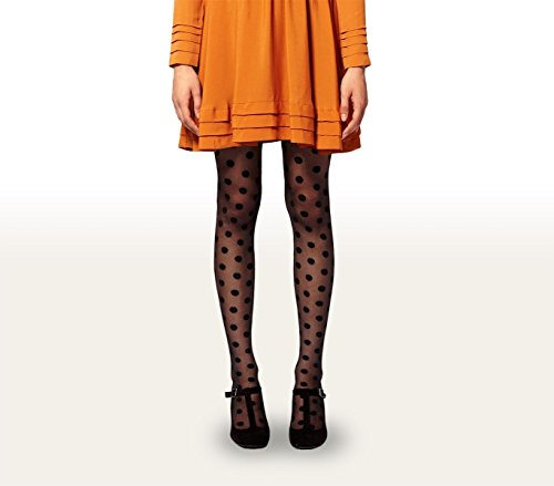 Collant donna calze fantasia a pois 20 DEN in taglia unica dots pattern PANTHYHOSE. MWS