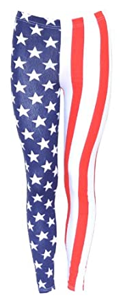 Style Usa American Flag Leggings Pants (M/L (10-12))