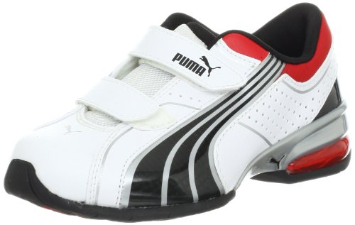 PUMA Cell Tolero 3 V Running Shoe (Toddler/Little Kid/Big Kid),White/Black/Puma Silver,9 M US Toddler