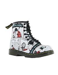 Dr.Martens Delaney White Multi Leather Junior Boots