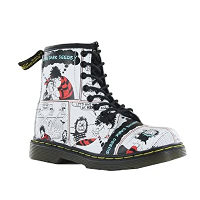 Dr.Martens Delaney White Multi Leather Junior Boots Size 1 UK