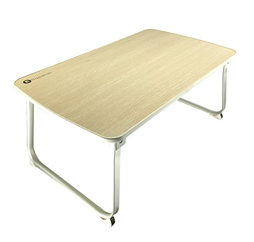 Best Prices! Large Folding Laptop Desk by Rapahan, Aluminum and Beech - Best for Portable Sturdy Sta...