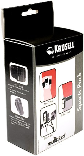 Krusell Multidapt Sports Pack with Arm Strap, Bike Holder kit, Slide Swivel kit and Plastic knob