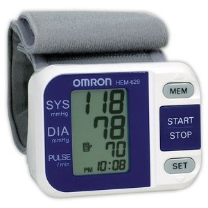 Omron Hem 629 Auto Inflate Wrist Blood Pressure Monitor front-381439
