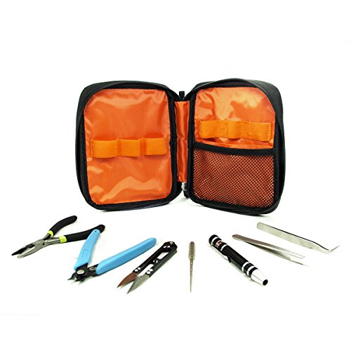 GearSpek CEVATLS2 Tool Kit for Rebuilding with Coil Rod, Black, 7 Piece (Vape Rda Building Kit compare prices)