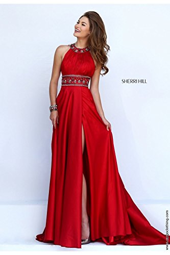 sherri-hill-red-11318-pleated-bodice-belt-detail-long-dress