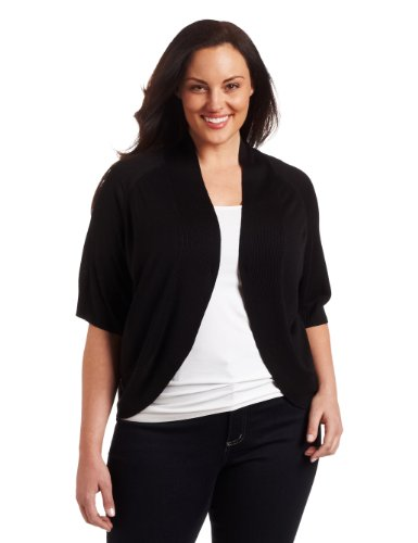 Calvin Klein Women's Plus-Size Circle Shrug Sweater