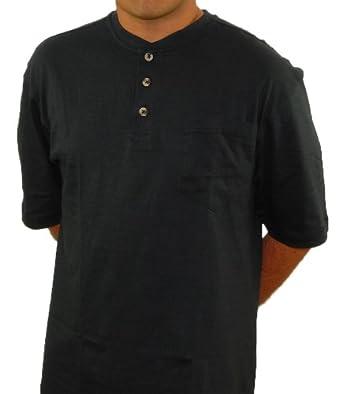 12dc90a5888 Nano-Tex Pocket Henley Shirts for Men - Short Sleeve