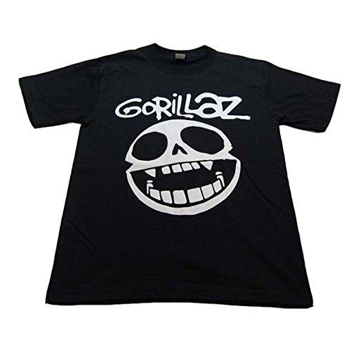 Gorillaz ゴリラズ カートゥーン・ロック・バンド プリントTシャツ M 黒 【並行輸入品】